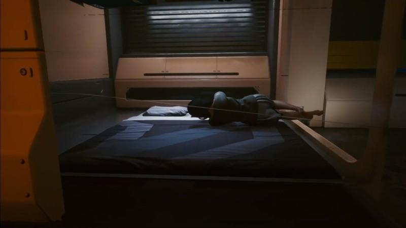 Мод от третьего лица позволил понять, в какой позе спит главный герой Cyberpunk 2077