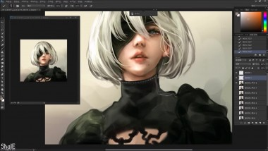 Nier - 2B speed painting