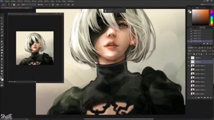 Nier - 0B speed painting