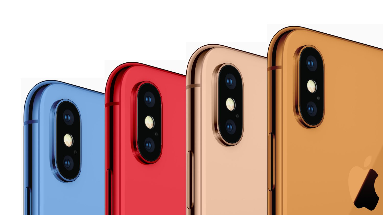 Новые iPhone выйдут в 6-ти цветовых вариантах