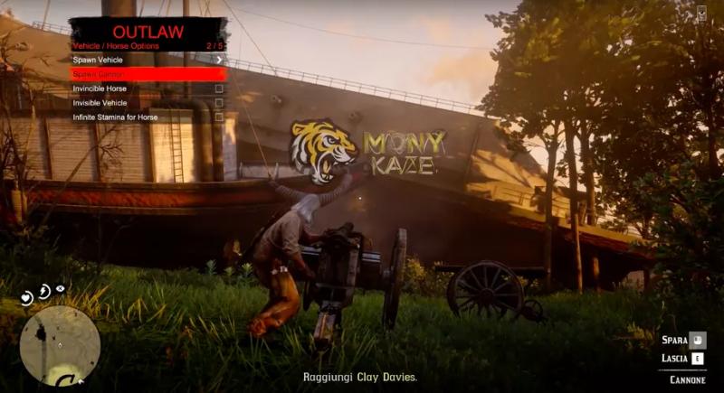 YouTuber спавнит различные лодки и оружие, используя мод меню RDO.