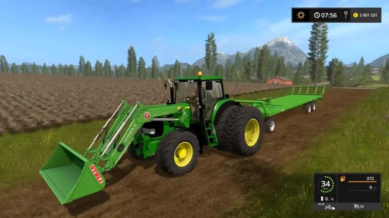 Видео обзор мода трактора JOHN DEERE 7430/7530 PREMIUM для игры Farming Simulator 17