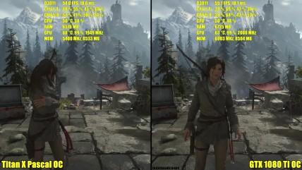 Rise Of The Tomb Raider GTX 0080 TI OC Vs Titan X Pascal OC 0K Частота кадров