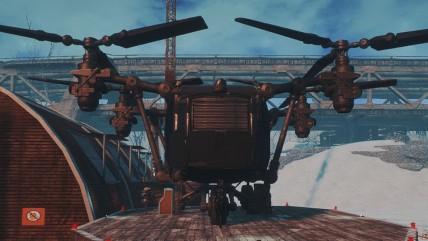 Этот мод для Fallout 0 позволяет создать мобильную базу внутри винтокрыла