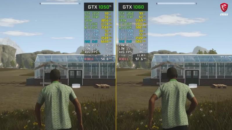 Pure Farming 2018 GTX 1050 Ti vs  GTX 1060 Сравнение