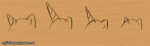 Разные стили рогов для пони (единорогов)