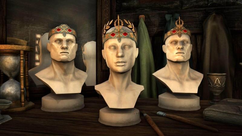 Комплект включает в себя три имперских головных убора для празднования Переполоха Середины года: обруч, корону и диадему.
