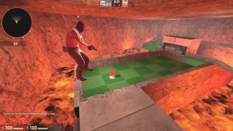 Эпичная гольф-битва между друзьями в CS:GO