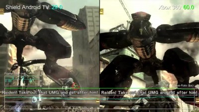 "Metal Gear Rising: Revengeance ""Сравнение частоты кадров Shield Android TV vs Xbox 360 от Digital Foundry"""
