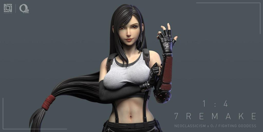 Neoclassicism x O2 Studio анонсировали фигурку Тифы по игре Final Fantasy VII Remake