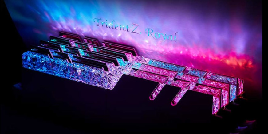 "G.Skill выпустила коробку-пьедестал для хранения ""королевской"" памяти Trident Z Royal DDR4"