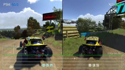 "Trackmania Turbo ""Тест производительности PS4 vs Xbox One (DigitalFoundry)"""