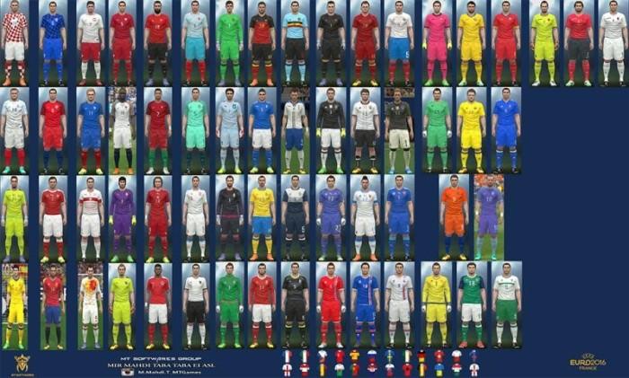 Euro 2016 Kits v4.1