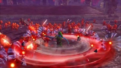 "Hyrule Warriors - Zelda ""Трейлер Link Fire Rod (Wii U)"""