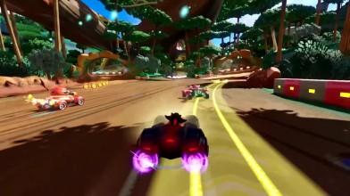 Team Sonic Racing - трейлер где персонажи обмениваются предметами и толкают противников