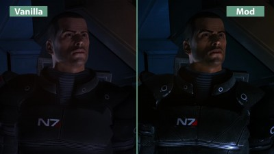 Mass Effect - Original vs. Mod Remaster Graphics Comparison