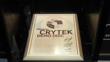 В музее VIGAMUS был выставлен демо-диск компании Crytek c прототипом Far Cry