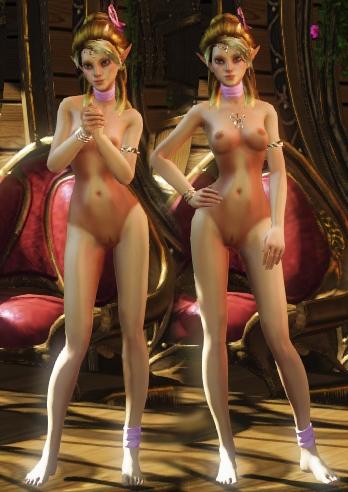Голая принцесса эльфов Лоэнна, nude-патч для игры Divinity: Dragon Commander