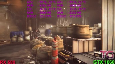 Тест RX 580 vs GTX 1060 в Deus Ex- Mankind Divided (Ryzen 1500x)
