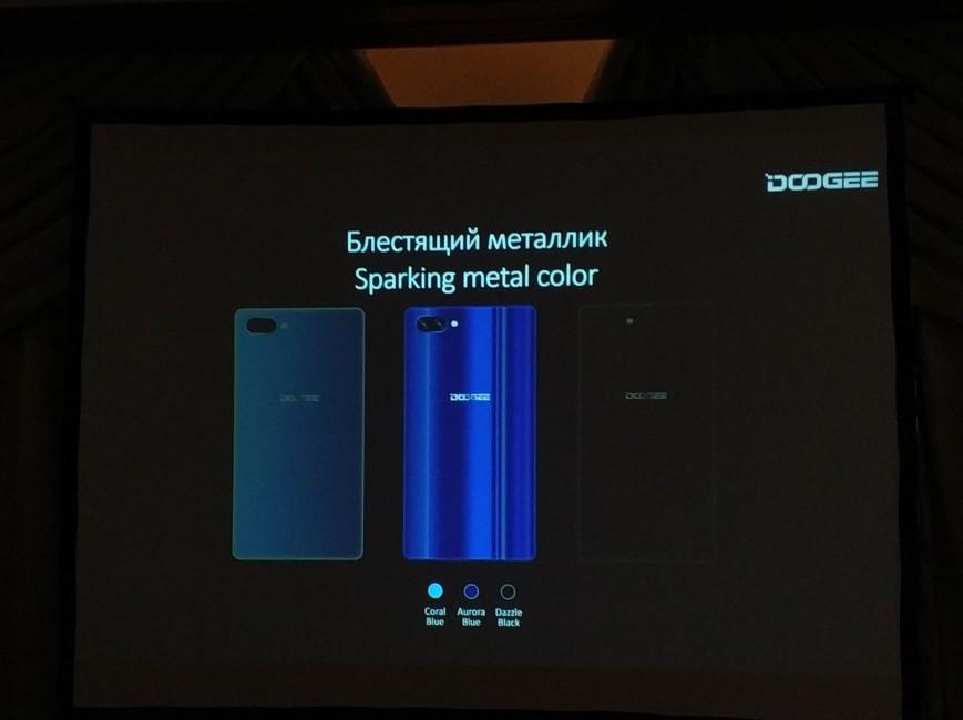 Компания Doogee представила вРФ безрамочный смартфон Doogee Mix