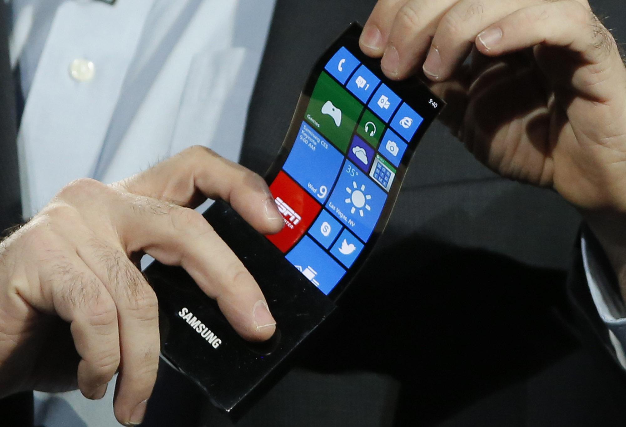 Самсунг запатентует 1-ый вмире гибкий планшет