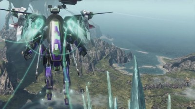 "Xenoblade Chronicles X ""демонстрация полёта на роботе"""