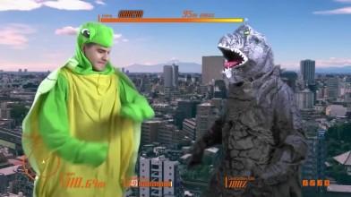 Godzilla - Пародийный скетч от Angry Joe
