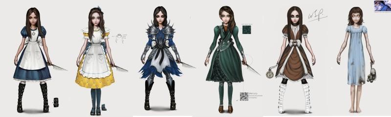 Часть концепт-артов с платьями главной героини. Всего их уже более 25