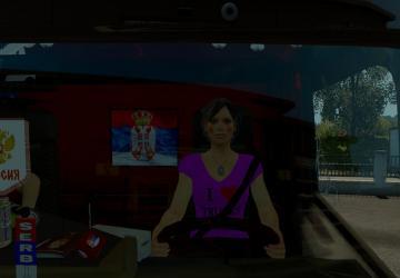 Мод Driver woman версия 1.0 для Euro Truck Simulator 2 (v1.28.x, - 1.31.x)