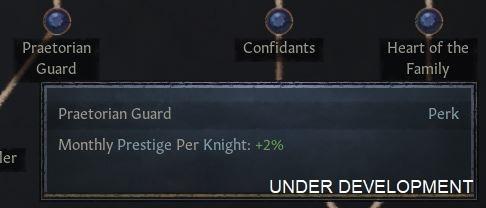 [Преторианцы — Престиж в месяц за каждого рыцаря: +2%]