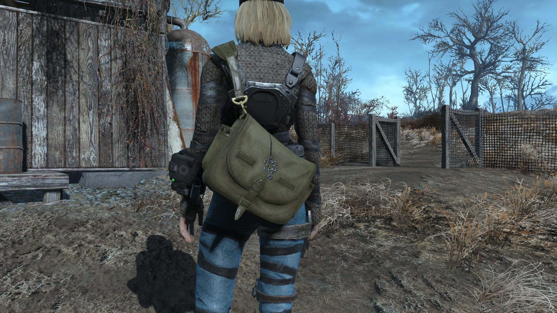 Fallout 4 моды Оружие за Спиной