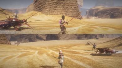 Outward - сражение с жуком на разделенном экране
