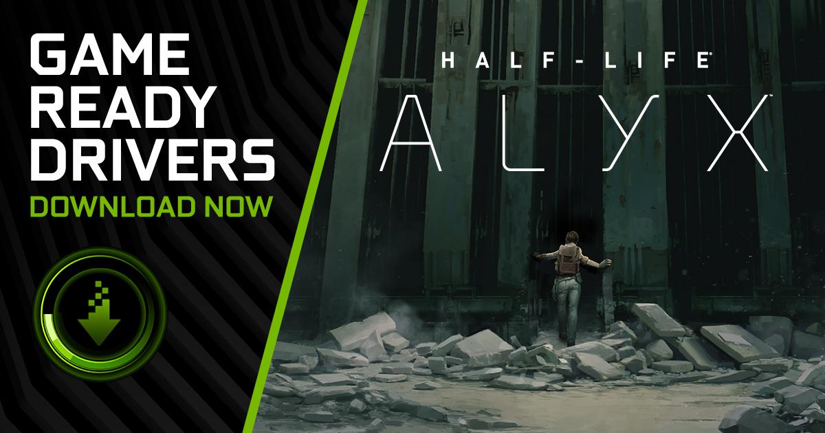 NVIDIA выпустила новые драйвера, оптимизированные для Half-Life: Alyx