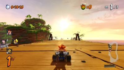 Crash Team Racing Nitro-Fueled - Сравнение графики PS4 и PS1