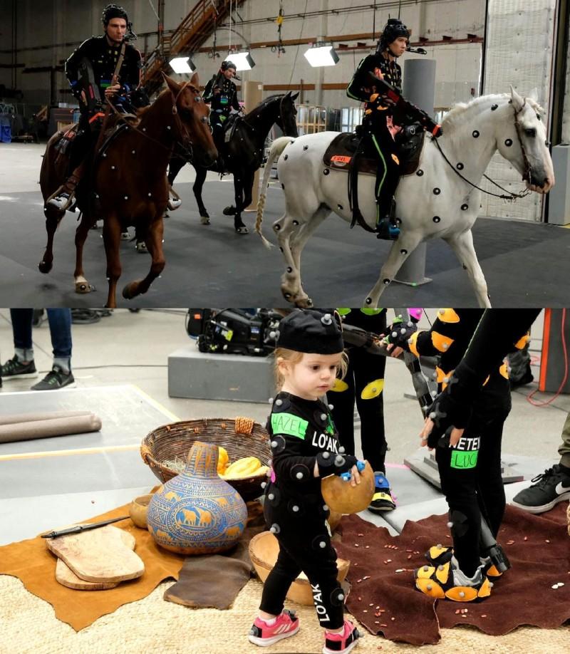 """Лошади и дети на новых фото со съемочной площадки сиквелов """"Аватара"""""""