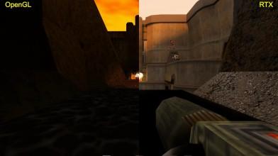 Quake 2 RTX с неофициальным аддоном Zaero - сравнения графики OpenGL|RTX на базе GTX 1080