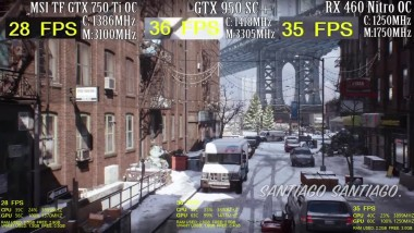 Tom Clancy's The Division - GTX 750 ti vs GTX 950 vs RX 460 - Side By Side Compa