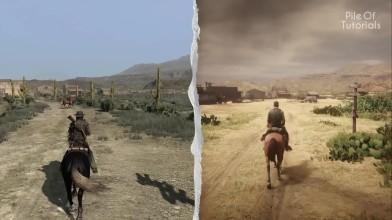 Сравнение локаций в Red Dead Redemption и Red Dead Redemption 2