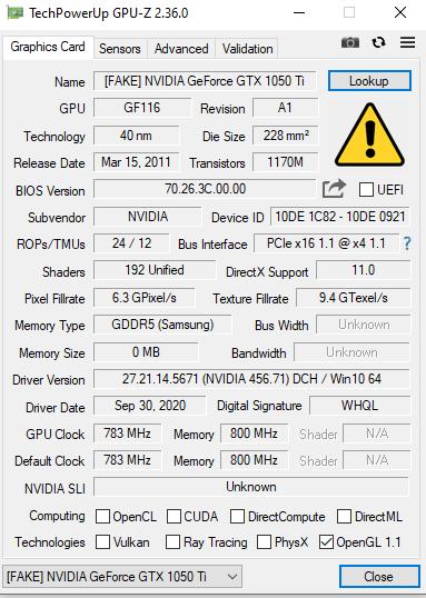 Ozon обвиняют в торговле фейковыми видеокартами NVIDIA GeForce GTX 1050 Ti