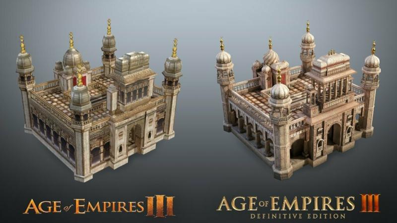 Еще больше сравнительных скриншотов Age of Empires III: Definitive Edition