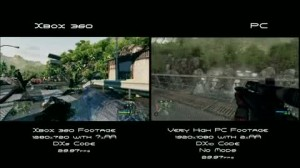 Crysis XBOX 360 vs PC