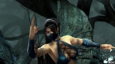 Mortal Kombat - Китана делает от всех персонажей начальные, победные стойки