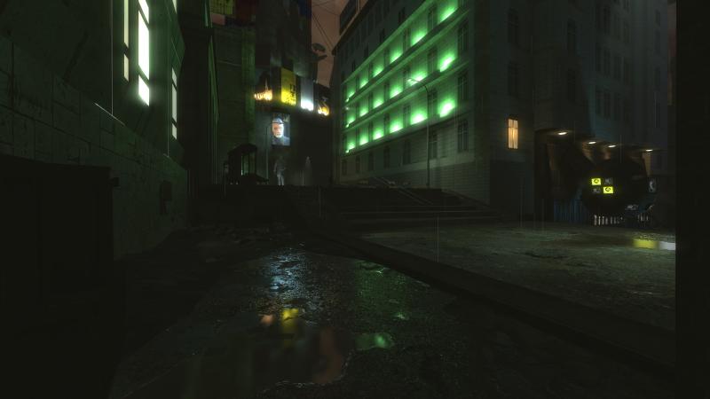Мокрые улицы ночного Сити 17