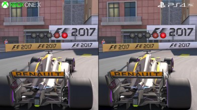 F1 2017: Xbox One X vs PS4 Pro - Сравнение графики + тест частоты кадров (DigitalFoundry)