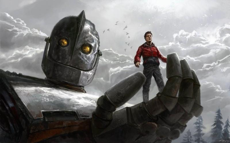 кадр из мультфильма «Стальной гигант»