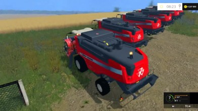 Видео обзор мода зерноуборочного комбайна MASSEY FERGUSON 7360PLI для игры Фермер симулятор 15