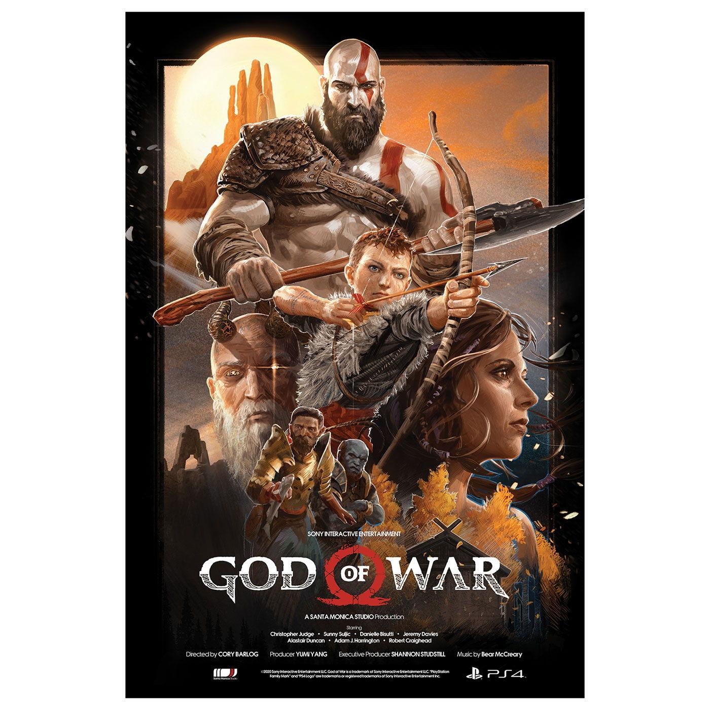 Украсит стену любого фаната: Авторы God of War представили потрясающий постер