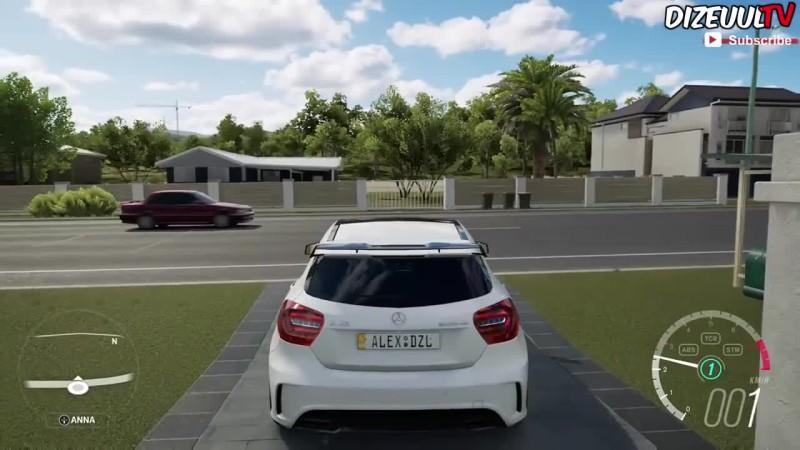 Forza Horizon 3 - Mercedes A45 AMG - ЛУЧШИЙ выхлоп звук? / Геймплей HD