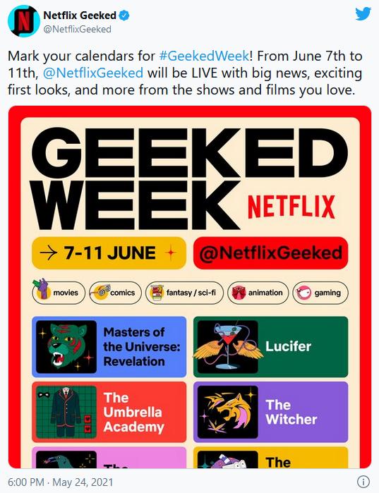 Официальное сообщение в аккаунте twitter Netflix.