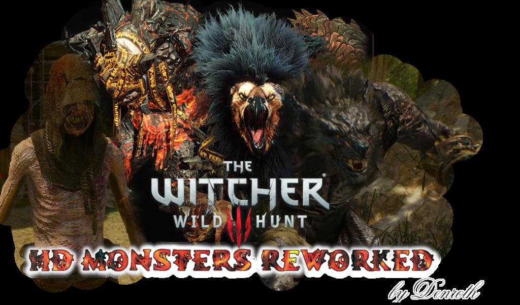 Детализированные чудовища в Witcher 3